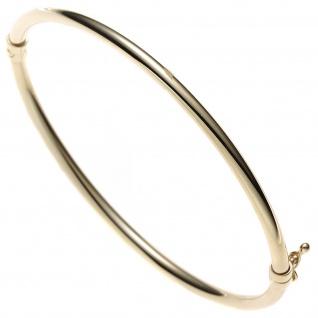 Armreif Armband oval 585 Gold Gelbgold Goldarmreif Steckverschluss - Vorschau
