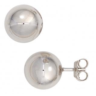 Ohrstecker Kugel 925 Sterling Silber rhodiniert Ohrringe Kugelohrstecker