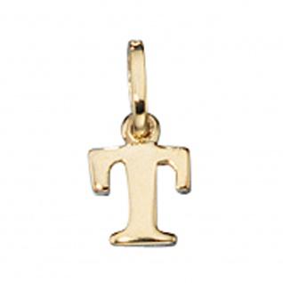 Anhänger Buchstabe T 333 Gold Gelbgold Buchstabenanhänger