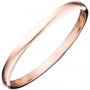 Armreif Armband 925 Sterling Silber rotgold vergoldet mit Glitzereffekt
