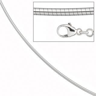 Halsreif 585 Weißgold 1, 7 mm 45 cm Gold Kette Halskette Weißgoldhalsreif