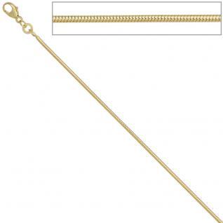 Schlangenkette 585 Gelbgold 1, 4 mm 38 cm Gold Kette Halskette Goldkette - Vorschau 3