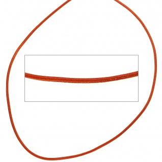 Lederschnur hellbraun ca. 1 m lang Halskette Kette Leder