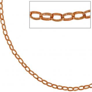 Ankerkette 925 Silber rotgold vergoldet 2, 4 mm 45 cm Halskette Kette Karabiner - Vorschau 4