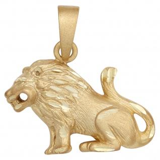 Anhänger Sternzeichen Löwe 585 Gold Gelbgold matt Sternzeichenanhänger