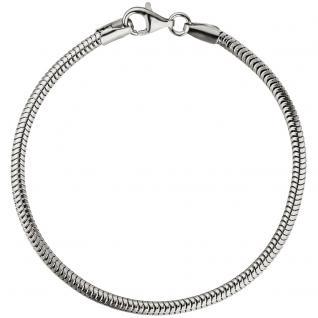 Schlangenarmband 925 Sterling Silber 19 cm Armband Silberarmband - Vorschau 2
