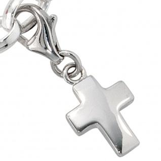 Einhänger Charm Kreuz 925 Sterling Silber rhodiniert