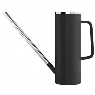 Blomus Gießkanne LIMBO Kunststoff schwarz mit Edelstahl kombiniert 1, 5 L Inhalt