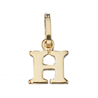 Anhänger Buchstabe H 333 Gold Gelbgold Buchstabenanhänger