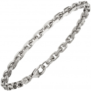 Ankerarmband 585 Gold Weißgold diamantiert 21 cm Armband Weißgoldarmband