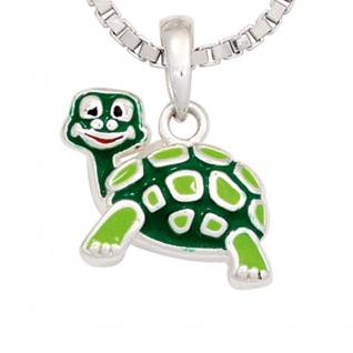 Kinder Anhänger Schildkröte grün 925 Sterling Silber rhodiniert Kinderanhänger - Vorschau 2