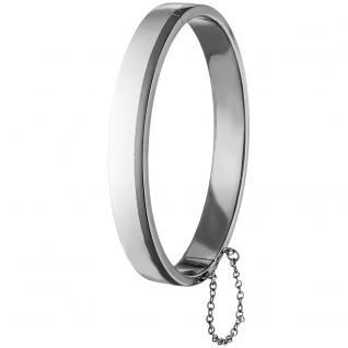 Herren Armreif Armband 925 Sterling Silber Herrenarmreif mit Sicherheitskette