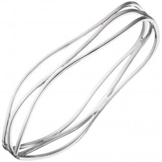 Armreif Armband 925 Sterling Silber rhodiniert Silberarmreif