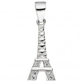Anhänger Eiffelturm 925 Sterling Silber mit Zirkonia Eiffelturmanhänger
