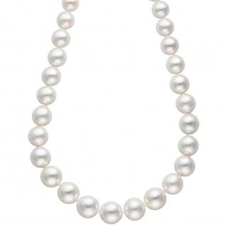 Collier Perlenkette Südsee Perlen 45 cm Verschluss 585 Gold Halskette Kette