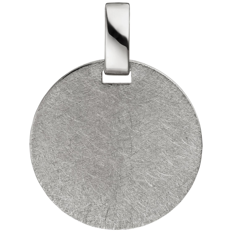 Anhänger Gravur Gravurplatte rund 925 Sterling Silber eismatt Silberanhänger 9d4947b0da