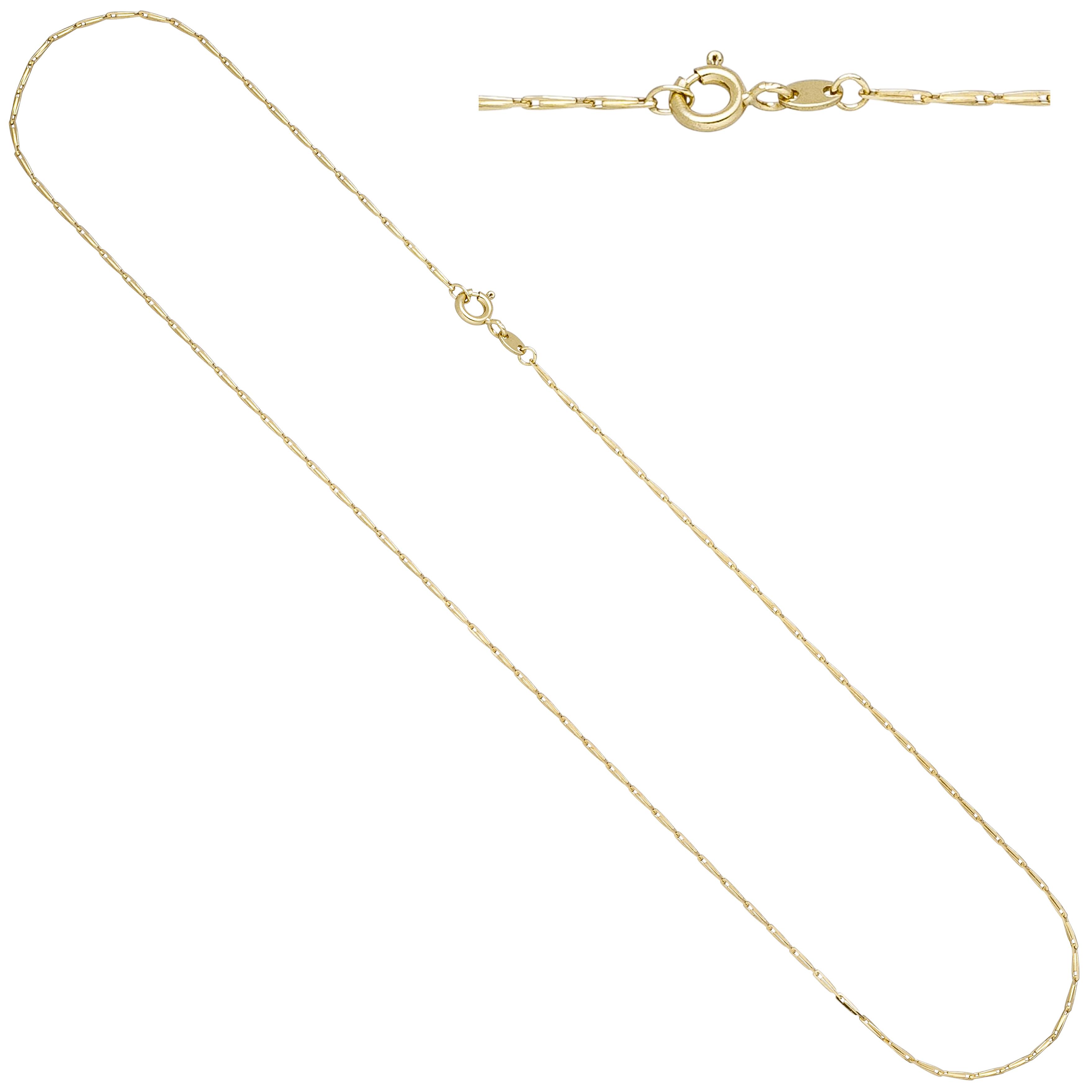 Haferkornkette 585 Gold Gelbgold 1 2 Mm 45 Cm Kette Halskette