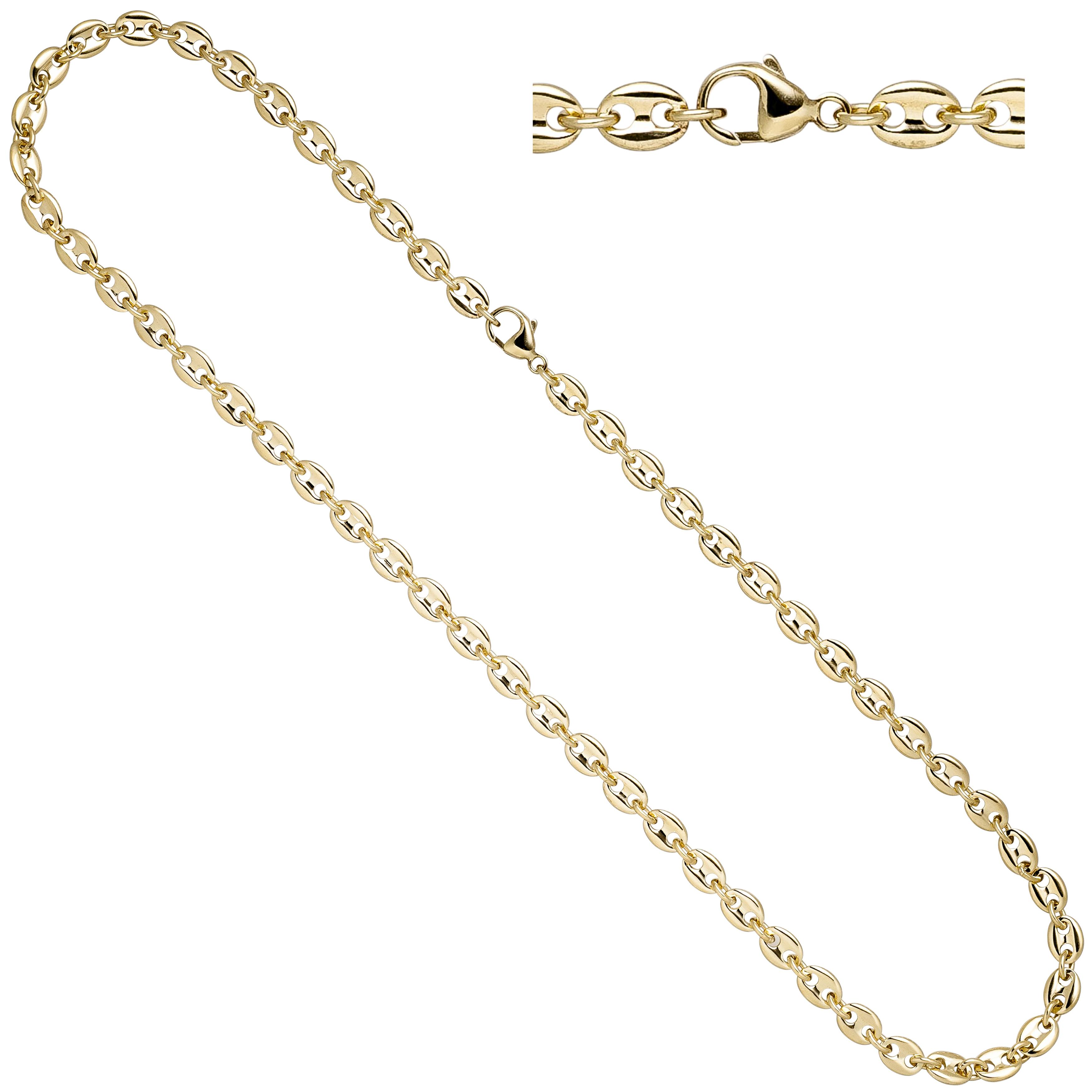 Halskette Kaffeebohnen Kette 585 Gold Gelbgold 50 Cm Goldkette