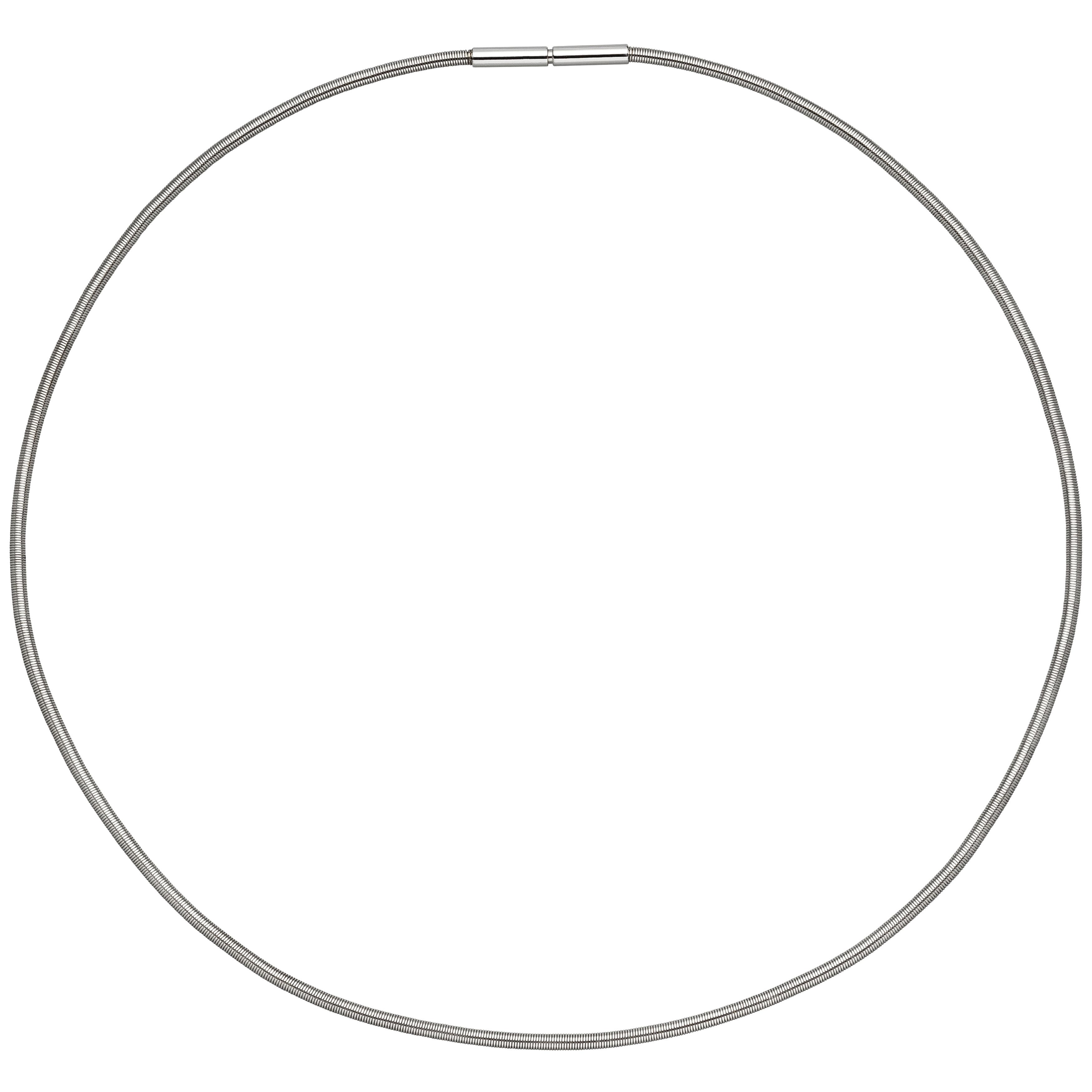 Kautschukkette mit 925er Silberverschluß 2,5mm in 6 Längen