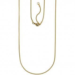 Schlangenkette Edelstahl gold farben 1, 5 mm 80 cm Kette Karabiner
