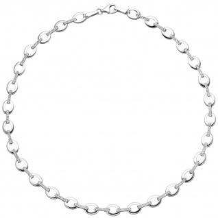 Collier Halskette 925 Sterling Silber 196 Zirkonia 44 cm Kette Silberkette