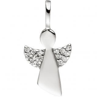 Anhänger Engel 925 Sterling Silber mit Zirkonia Silberanhänger Schutzengel