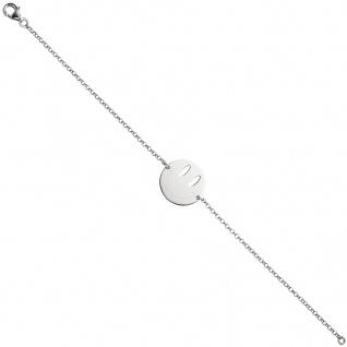 Armband Smiley 925 Sterling Silber 20 cm Silberarmband Smileyarmband