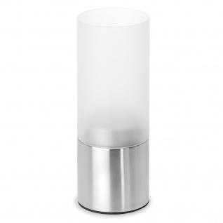 Blomus Teelichthalter FARO, Edelstahl matt, satiniertes Glas