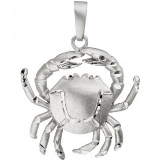 Anhänger Sternzeichen Krebs 925 Sterling Silber teil matt Sternzeichenanhänger