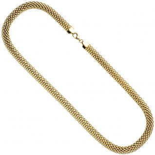 Collier Statement Halskette 925 Sterling Silber gold vergoldet 45 cm Kette