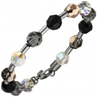 Armband Kristallsteine mit Edelstahl 19 cm