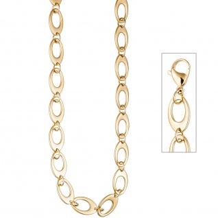 Collier / Halskette aus Edelstahl gold farben beschichtet 46 cm Kette