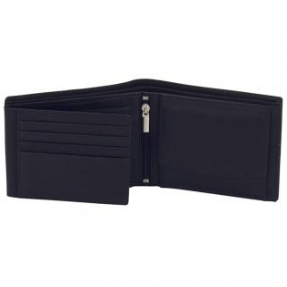 Friedrich Lederwaren Geldbörse Leder schwarz braun RFID Schutz