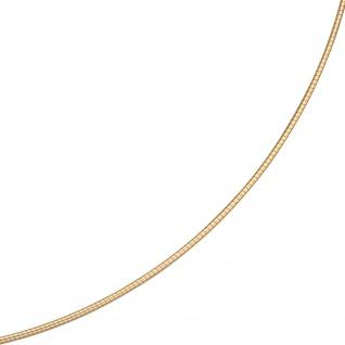 Halsreif 585 Gelbgold 1, 1 mm 42 cm Gold Kette Halskette Goldhalsreif Karabiner