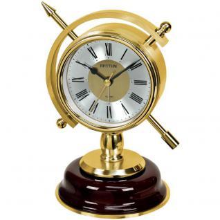 Rhythm 7960 Tischuhr Quarz golden ohne Ticken mit Weckfunktion Wecker