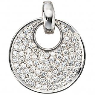Anhänger rund 585 Gold Weißgold 78 Diamanten Brillanten 1, 45ct. Weißgoldanhänger