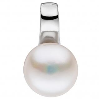 Anhänger 925 Silber 1 Süßwasser Perle Perlenanhänger Silberanhänger