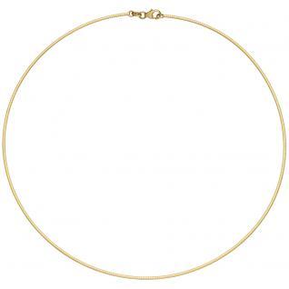 Halsreif 585 Gold Gelbgold matt Goldkette Kette Halskette
