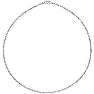 Collier Halskette 925 Sterling Silber rhodiniert 42 cm Kette Silberkette