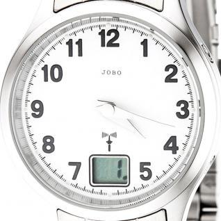 JOBO Damen Armbanduhr Edelstahl Datum Mineralglas Damenuhr - Vorschau 2
