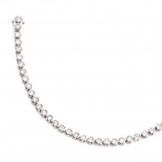 Armband 925 Sterling Silber 42 Zirkonia 19 cm Silberarmband Kastenschloss - Vorschau 2