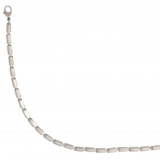 Armband 950 Platin matt 20 cm Platinarmband Karabiner - Vorschau 3