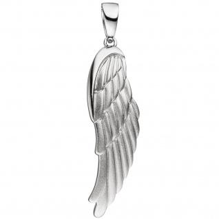 Anhänger Flügel Engelsflügel 925 Sterling Silber mattiert