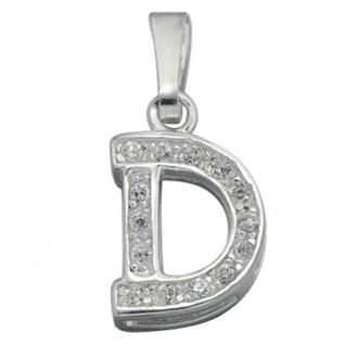 Anhänger Buchstabe D 925 Silber Buchstabenanhänger