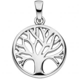 Anhänger Baum Lebensbaum 925 Sterling Silber Silberanhänger