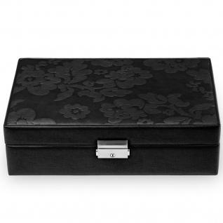 Sacher Schmuckkoffer Schmuckkasten NATURE FIORELLA Leder schwarz abschließbar - Vorschau 2