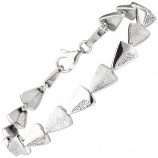 Armband 925 Sterling Silber 42 Zirkonia 19 cm Silberarmband