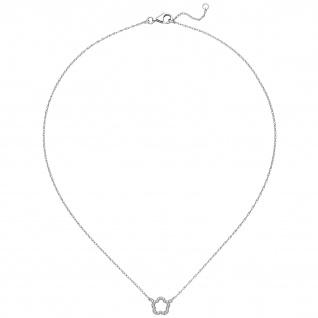 Collier Halskette Blume 925 Sterling Silber 45 cm Kette