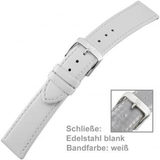 Uhrenarmband Ladies 20 mm Kalbsleder weiß mit Schließe aus Edelstahl