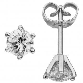 Ohrstecker 585 Gold Weißgold 2 Diamanten Brillanten 1, 00 ct. Ohrringe